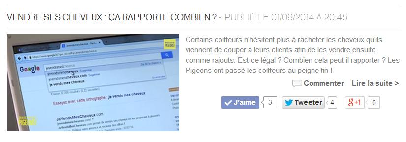 Merci France4 et l'émission On n'est pas des pigeons!