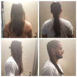 Cheveux asiatique 43 cm