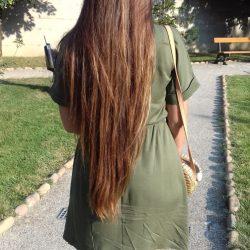 Reflets des cheveux au soleil
