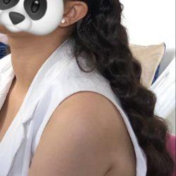 Cheveux coiffés