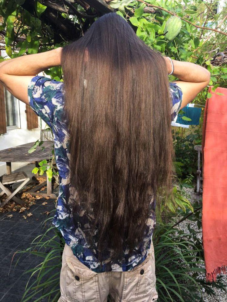 cheveux vierges brune à blonde